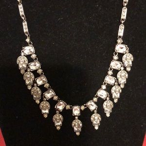Jewelry - Stunning Silver Diamond Crystal Necklace